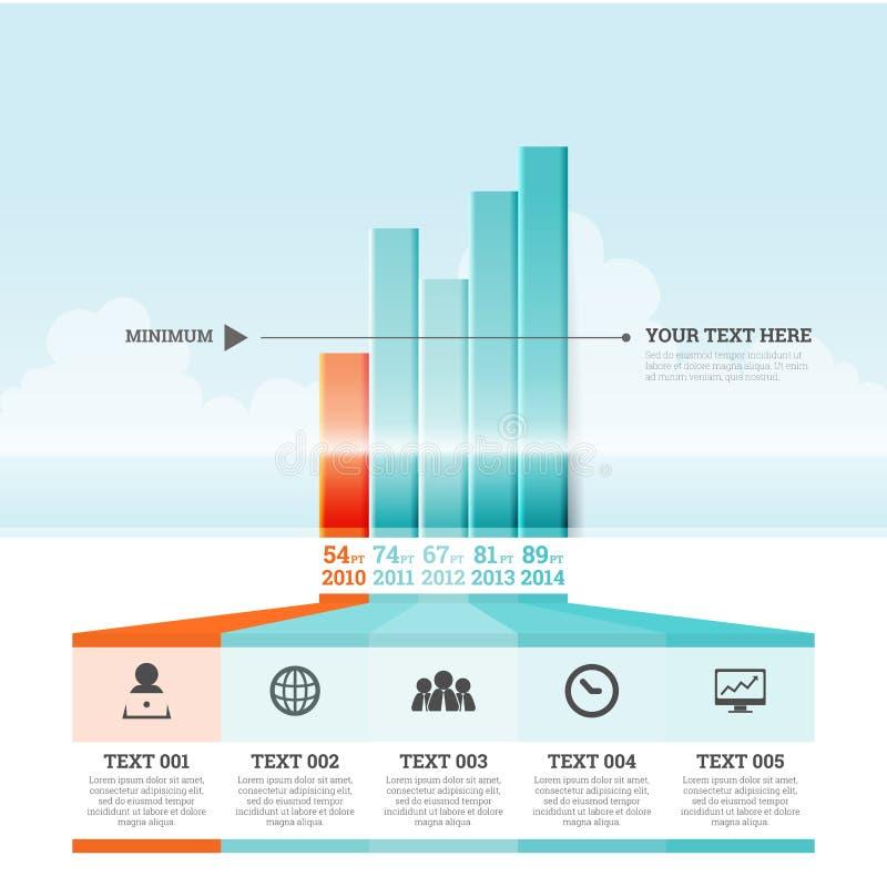 Γραφικά στοιχεία Infographic φραγμών διανυσματική απεικόνιση
