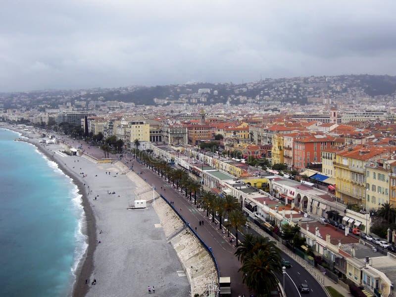 Γραφικά τοπία της Νίκαιας, Γαλλία στοκ εικόνα
