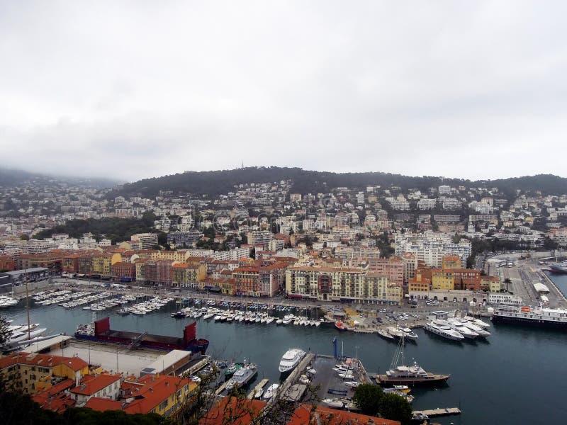 Γραφικά τοπία της Νίκαιας, Γαλλία στοκ εικόνα με δικαίωμα ελεύθερης χρήσης