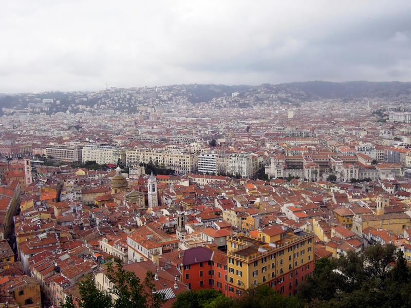 Γραφικά τοπία της Νίκαιας, Γαλλία στοκ φωτογραφίες