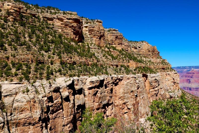 Γραφικά τοπία του μεγάλου φαραγγιού, άποψη, Αριζόνα, ΗΠΑ στοκ εικόνα