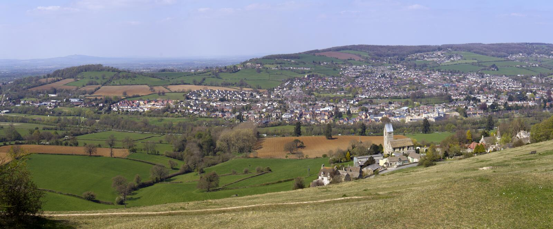 Γραφικές κοιλάδες Cotswolds - Stroud στοκ εικόνες