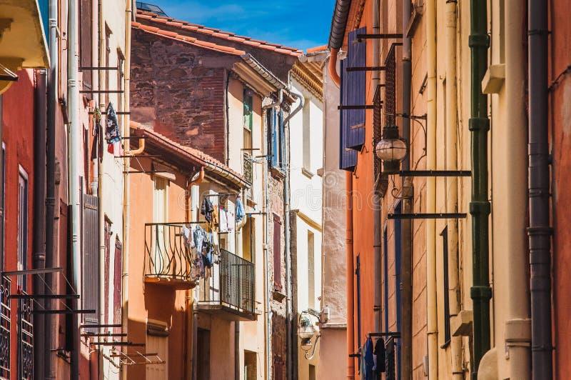 Γραφική άποψη των οδών Collioure, Γαλλία στοκ εικόνες με δικαίωμα ελεύθερης χρήσης