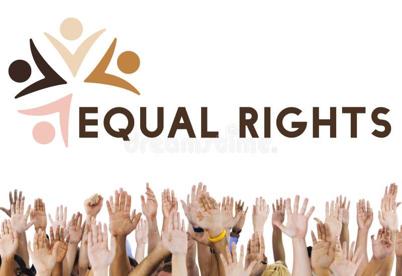 Γραφική έννοια ενότητας ενότητας ανθρωπότητας ποικιλομορφίας στοκ εικόνα με δικαίωμα ελεύθερης χρήσης