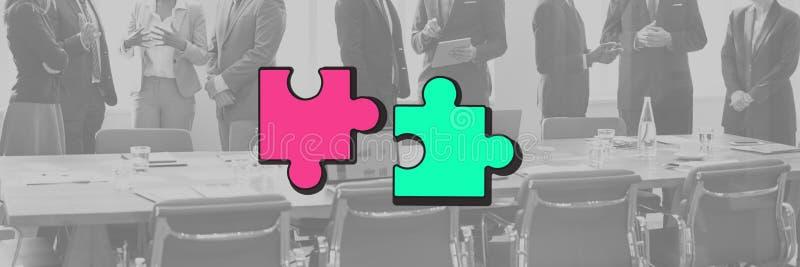 Γραφική έννοια συνεργασίας ένωσης συμμαχίας ομάδας στοκ φωτογραφία με δικαίωμα ελεύθερης χρήσης