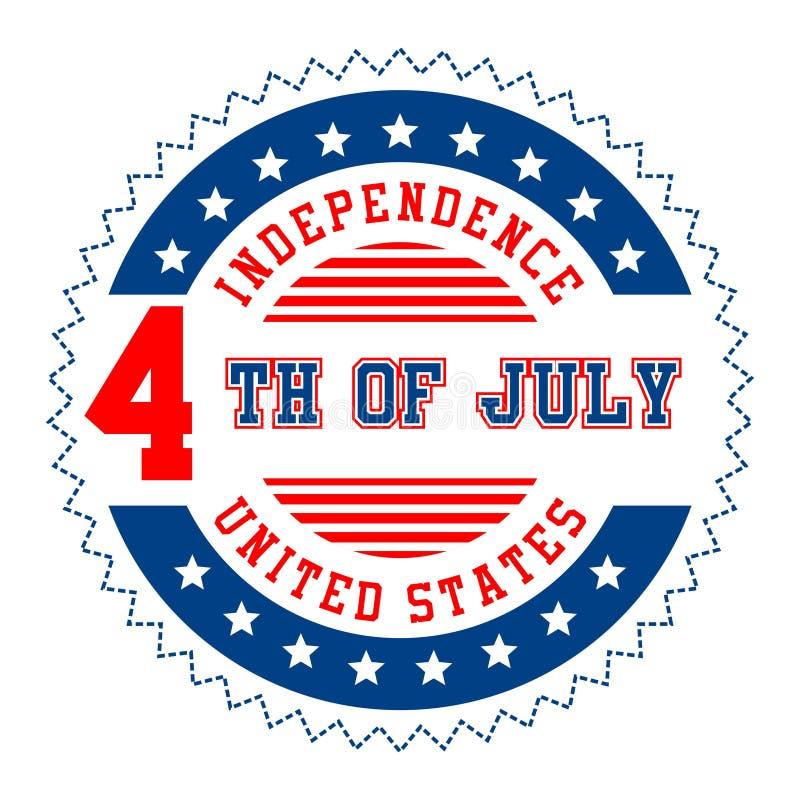 Γραφική ανεξαρτησία Ηνωμένες Πολιτείες απεικόνιση αποθεμάτων