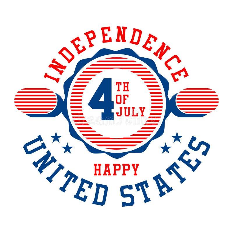 Γραφική ανεξαρτησία Ηνωμένες Πολιτείες διανυσματική απεικόνιση