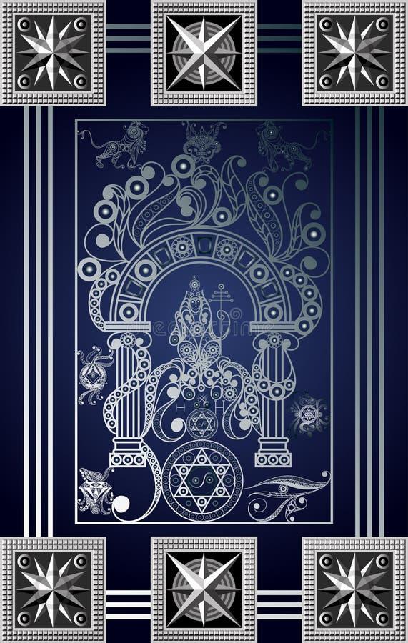 Γραφική απεικόνιση μιας κάρτας Tarot 10_2 απεικόνιση αποθεμάτων