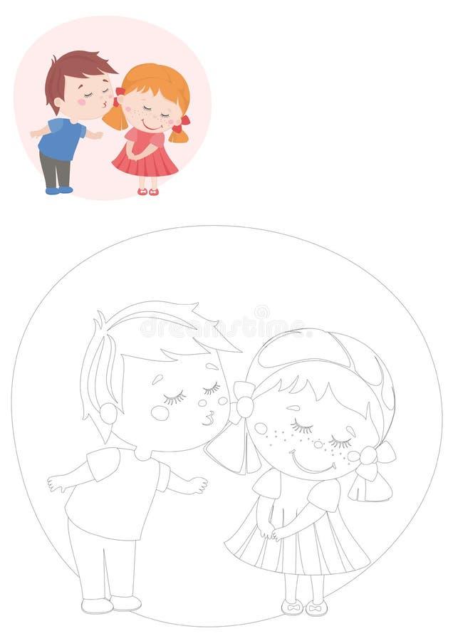 γραφική απεικόνιση χρωματισμού βιβλίων ζωηρόχρωμη χαριτωμένα κατσίκια ελεύθερη απεικόνιση δικαιώματος