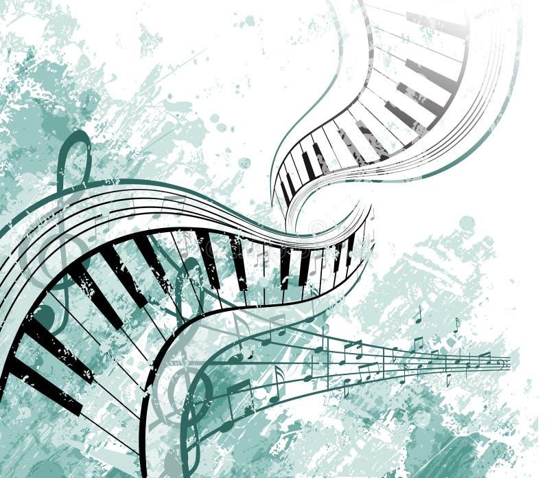 γραφική απόδοση μουσική&sigmaf διανυσματική απεικόνιση