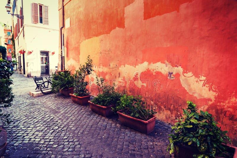 Γραφική γωνία σε Trastevere στοκ εικόνα με δικαίωμα ελεύθερης χρήσης