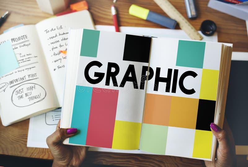 Γραφική δημιουργική έννοια τέχνης σχεδίου οπτική στοκ φωτογραφίες με δικαίωμα ελεύθερης χρήσης