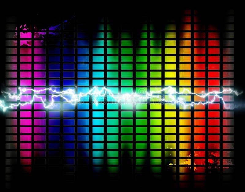 γραφική μουσική ανασκόπη&sigm διανυσματική απεικόνιση