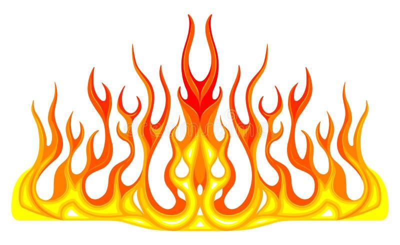 Γραφική παράσταση οχημάτων, λωρίδα: Καυτή φλόγα αγώνα ράβδων, decal, βινυλίου έτοιμος αυτοκινήτων γκράφιτι στην κουκούλα ενός αυτ απεικόνιση αποθεμάτων