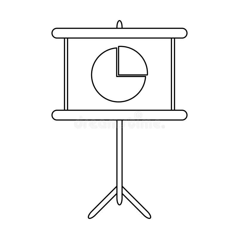 Γραφική παράσταση στατιστικών στο whiteboard γραπτό διανυσματική απεικόνιση