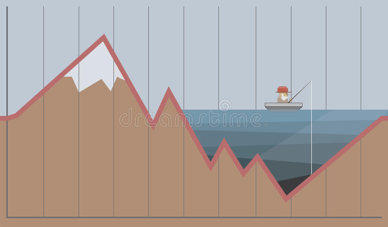 Γραφική παράσταση του πετρελαίου και των δολαρίων Έννοια κρίσης βιομηχανίας πετρελαίου επίσης corel σύρετε το διάνυσμα απεικόνιση ελεύθερη απεικόνιση δικαιώματος