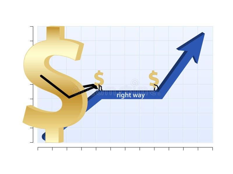 γραφική παράσταση χρηματο&d διανυσματική απεικόνιση
