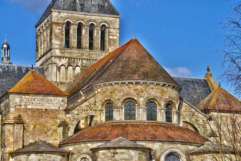 Γραφική πόλη Αγίου Benoit sur Loire στο Val-de-Loire στοκ εικόνα με δικαίωμα ελεύθερης χρήσης