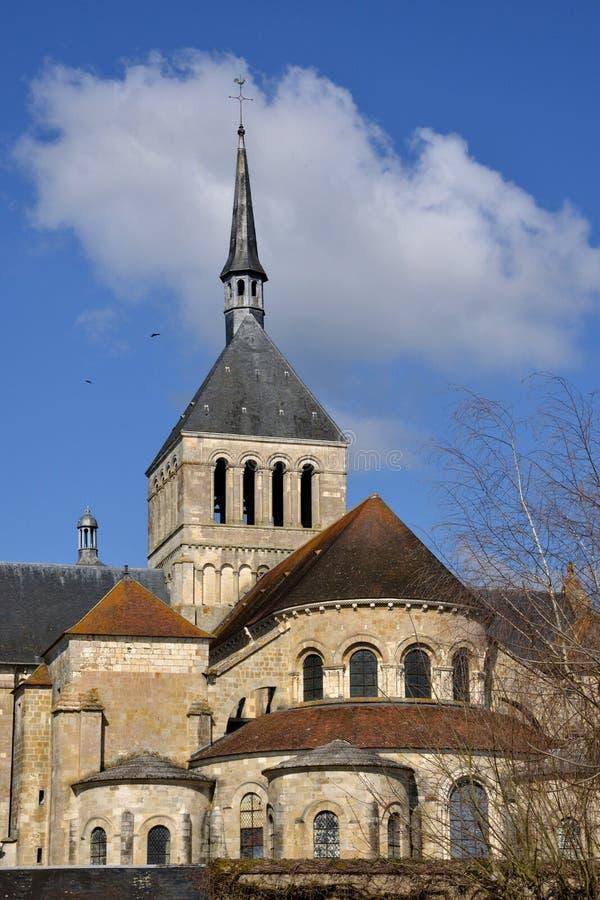 Γραφική πόλη Αγίου Benoit sur Loire στο Val-de-Loire στοκ εικόνες