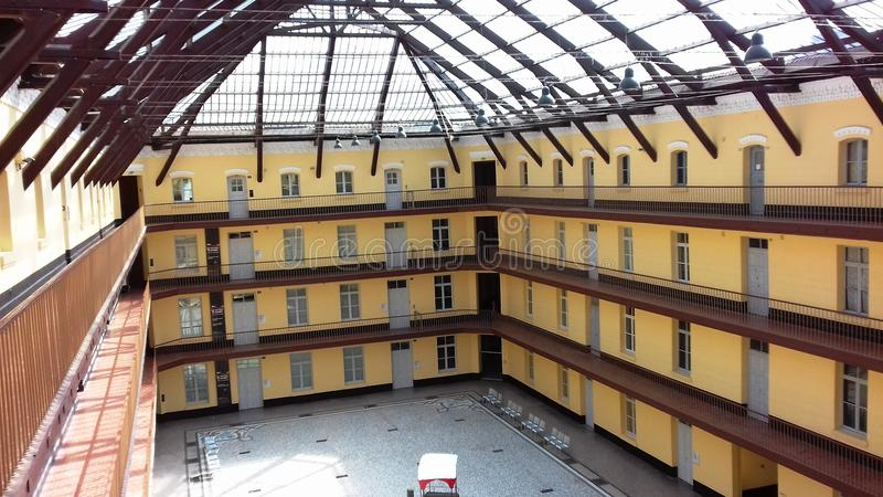 Γραφική φωτογραφία στο θόλο και η αίθουσα του familistère στοκ φωτογραφίες με δικαίωμα ελεύθερης χρήσης