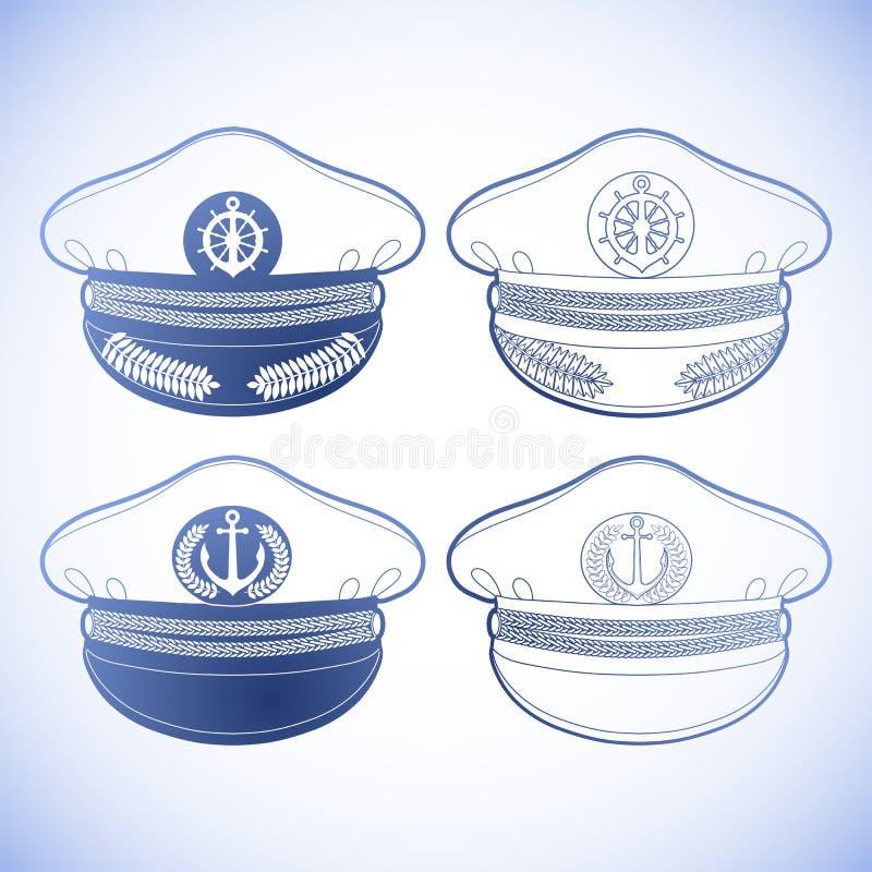 Γραφικός καπετάνιος ΚΑΠ διανυσματική απεικόνιση
