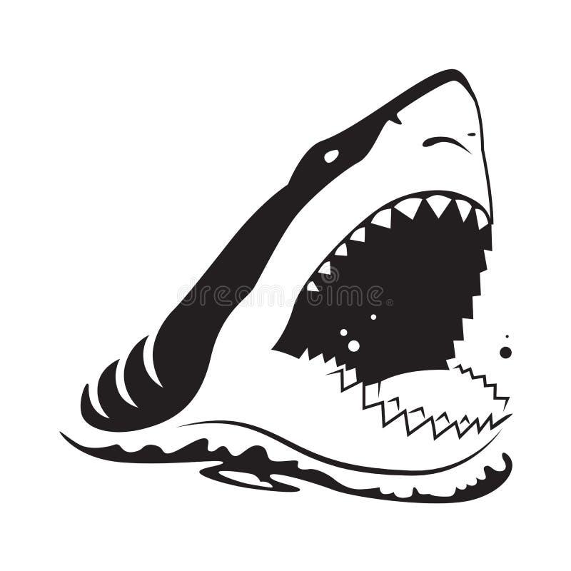 Γραφικός καρχαρίας, διάνυσμα απεικόνιση αποθεμάτων