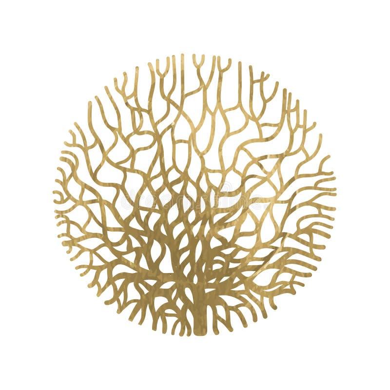 Γραφικός κύκλος κοραλλιών απεικόνιση αποθεμάτων