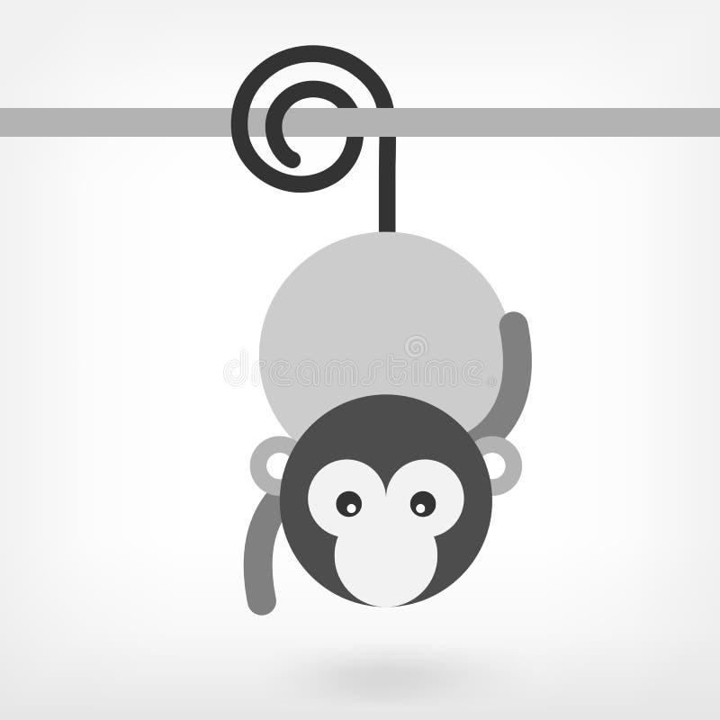Γραφικός πίθηκος διανυσματική απεικόνιση