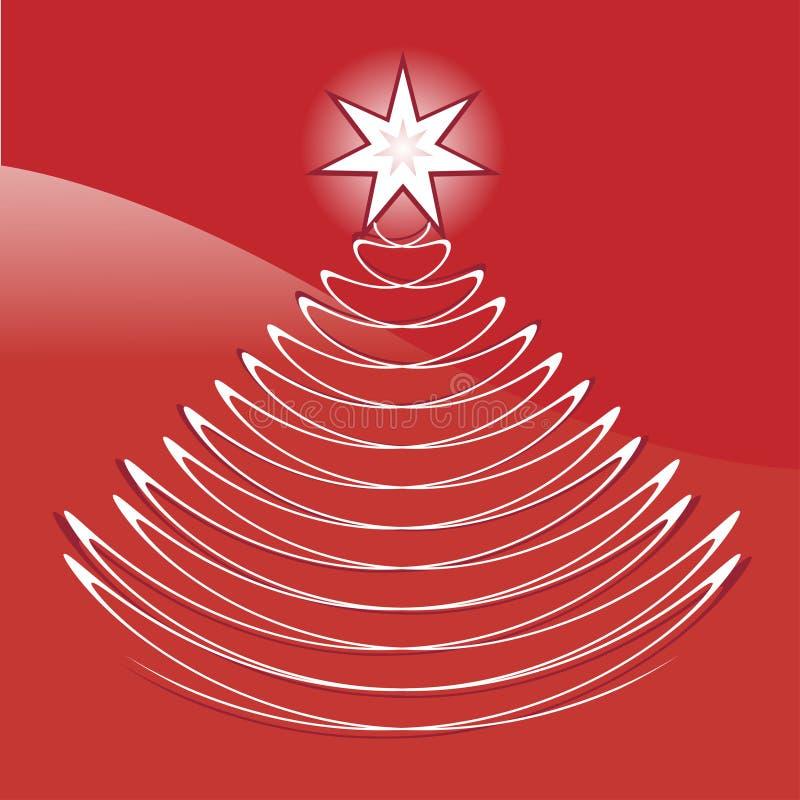 Γραφικό αφηρημένο χριστουγεννιάτικο δέντρο διανυσματική απεικόνιση