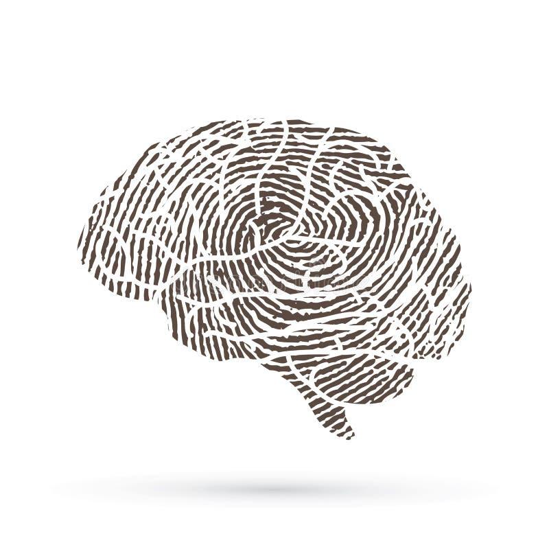 Γραφικό διάνυσμα πλάγιας όψης εγκεφάλου απεικόνιση αποθεμάτων