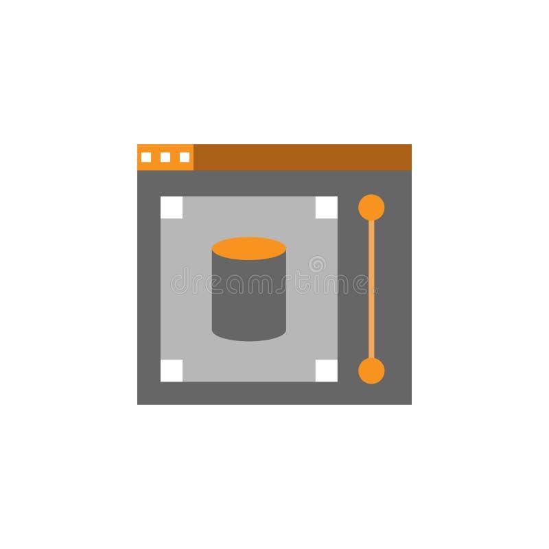 Γραφικό, εικονίδιο απεικόνισης Στοιχείο του εικονιδίου Desing Ιστού για την κινητούς έννοια και τον Ιστό apps Λεπτομερής γραφικός απεικόνιση αποθεμάτων