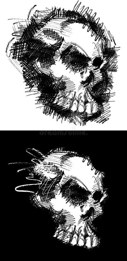 γραφικό κρανίο σκίτσων ει&ka Στοκ Εικόνες