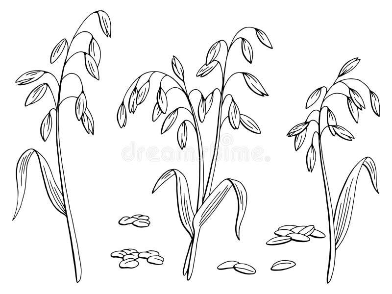 Γραφικό μαύρο απομονωμένο λευκό διάνυσμα απεικόνισης σκίτσων εγκαταστάσεων βρωμών ελεύθερη απεικόνιση δικαιώματος