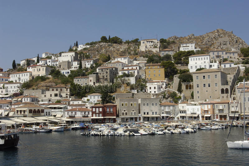 Γραφικό νησί Hydra στον κόλπο Saronic στοκ φωτογραφίες