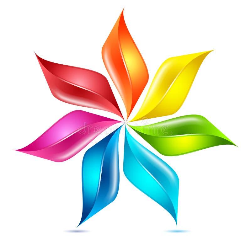 Γραφικό στοιχείο Pinwheel λουλουδιών ελεύθερη απεικόνιση δικαιώματος