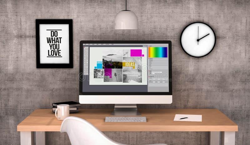γραφικό σχέδιο υπολογιστών χώρου εργασίας στοκ εικόνες