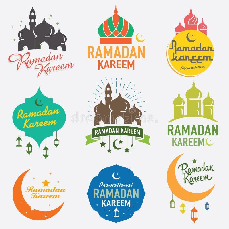 Γραφικό σχέδιο Ramadan διανυσματική απεικόνιση