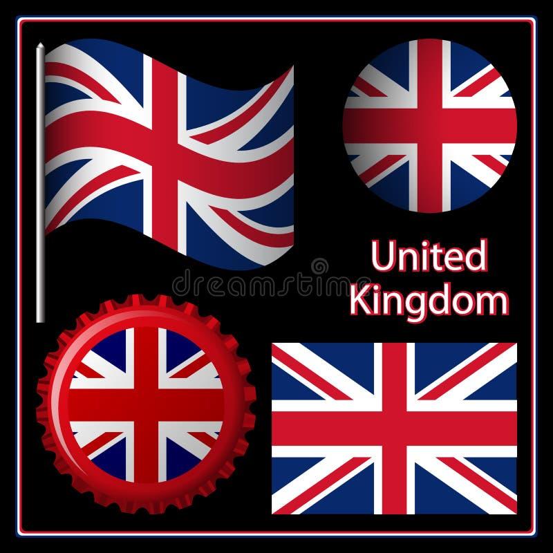 Γραφικό σύνολο της Αγγλίας ελεύθερη απεικόνιση δικαιώματος