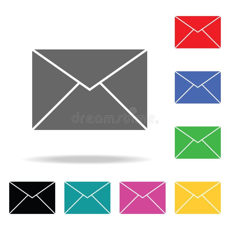 γραφικό ταχυδρομείο απεικόνισης εικονιδίων Στοιχεία στα πολυ χρωματισμένα εικονίδια για την κινητούς έννοια και τον Ιστό apps Εικ διανυσματική απεικόνιση