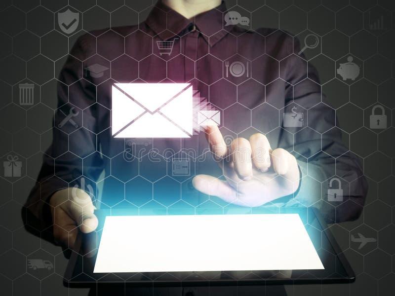 γραφικό ταχυδρομείο απεικόνισης εικονιδίων απεικόνιση αποθεμάτων