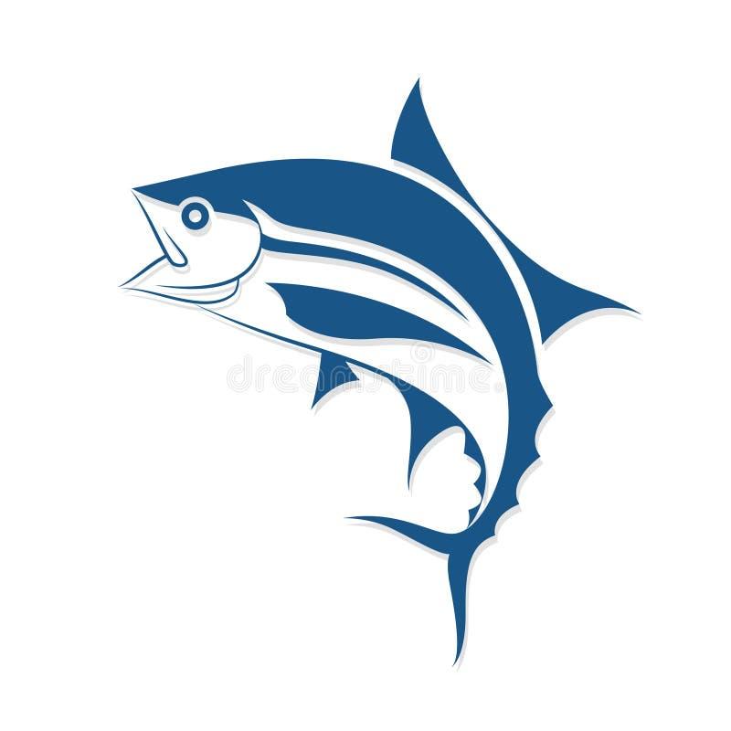 Γραφικό ύφος δερματοστιξιών ψαριών, διάνυσμα ελεύθερη απεικόνιση δικαιώματος