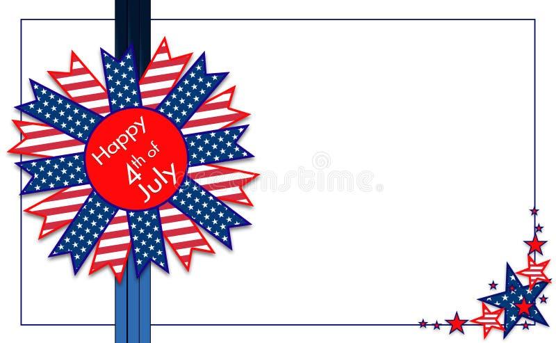 Γραφικό illlustration για αμερικανικό 4ο του σχεδίου Ιουλίου, αστεριών και λωρίδων διανυσματική απεικόνιση