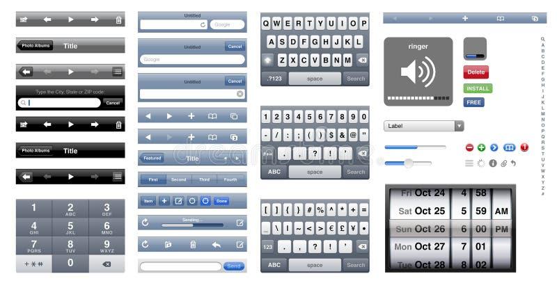 γραφικό iphone OS απεικόνιση αποθεμάτων