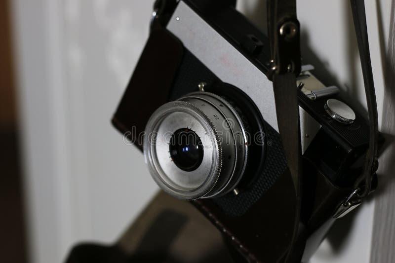 Γραφομηχανή και κάμερα αναδρομικές στοκ εικόνες