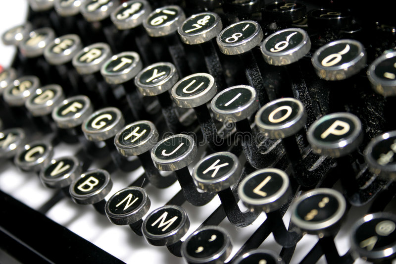 γραφομηχανή πλήκτρων στοκ εικόνα με δικαίωμα ελεύθερης χρήσης