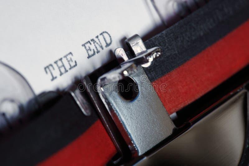 γραφομηχανή τελών στοκ εικόνα