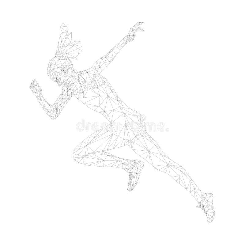 Γρηγορότερη τρέχοντας γυναίκα έναρξης sprinter στοκ εικόνες με δικαίωμα ελεύθερης χρήσης