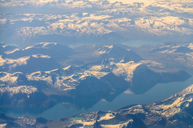 Γροιλανδία από τον αέρα στοκ εικόνες