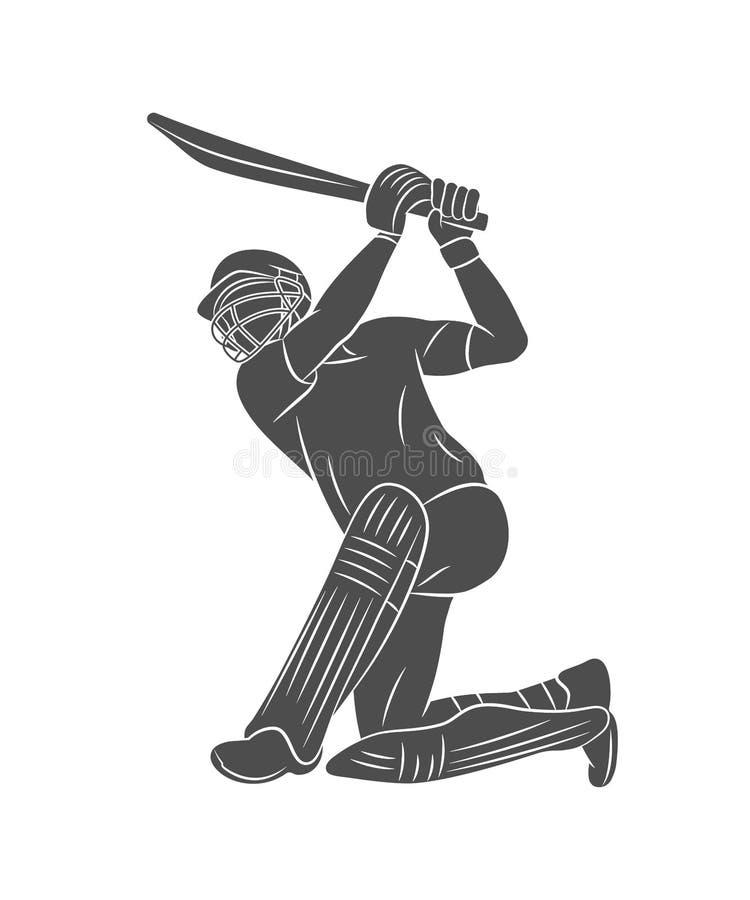 Γρύλος παιχνιδιού σφαιριστών σκιαγραφιών σε ένα άσπρο υπόβαθρο ελεύθερη απεικόνιση δικαιώματος