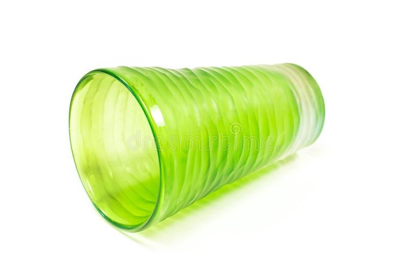Γυάλινο βάζο απομονωμένο σε λευκό φόντο στοκ εικόνες με δικαίωμα ελεύθερης χρήσης